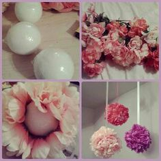 Flower ball diy