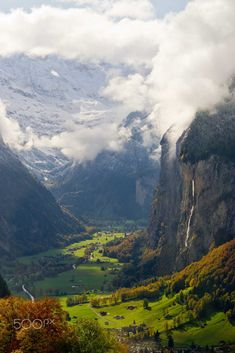 Rockfalls by Joe Yoon at Jungfrau Mountains, Switzerland Follow @travelgurus for the best Tumblr landscapes