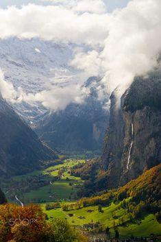Rockfalls by Joe Yoon at Jungfrau Mountains, Switzerland Follow @travelgurus for the best Tumblr landscapes