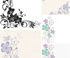 Floral backgrounds templates vector