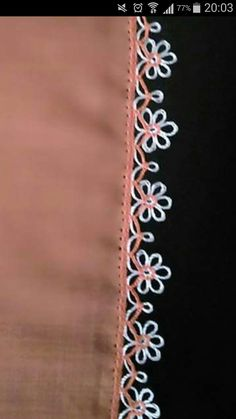 This post was discovered by Ali Somsur. Discover (and save!) your own Posts on Unirazi. Tatting Jewelry, Tatting Lace, Embroidery Jewelry, Needle Tatting Patterns, Hand Embroidery Stitches, Crochet Stitches, Crochet Lace Edging, Crochet Borders, Crochet Flowers