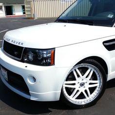 video clip. range rover asanti af116 split 6 star wheels. white spokes