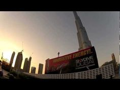 """""""Most expensive"""" billboard in the world from Skydive Dubai and Go Fast Events - Billboard near Burj Khalifa Out Of Home Advertising, Advertising Agency, Dubai Skyscraper, Mad World, Most Expensive, Skydiving, World's Biggest, Burj Khalifa, 30 Seconds"""