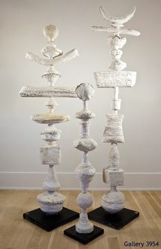 Julie Silvers Ceramics - Gallery 3954 Potential for ceramic functional to turn… Outdoor Sculpture, Outdoor Art, Garden Totems, Garden Art, Art Decor, Decoration, Atelier D Art, Ceramic Techniques, Sculpture Clay