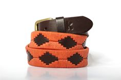 Men leather belts from Argentina / Naranja