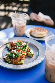 Tomato Basil Avocado Toast by Groundwork Rose Ave.   Photo by Joe Walker and Cravingcouple