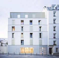 Architecture Images, Facade Architecture, Residential Architecture, London Brick, Social Housing, Building Exterior, Apartment Design, Cladding, House Design