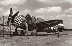 P-47 Thunderbolt , 78th Fighter Group, Duxford, England, 1944