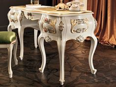 Solid wood writing desk with drawers 11303 Villa Venezia Collection by Modenese Gastone group