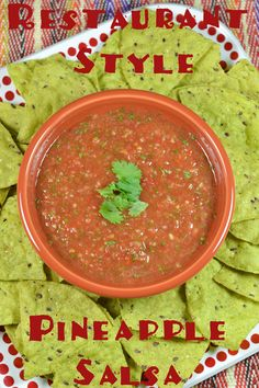 A little spicy, a little sweet, this Restaurant Style Pineapple Salsa is perfect for your family taco night or game day party!