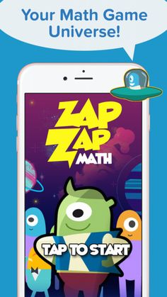 and the countdown begins to an amazing galactic math adventure with Zap Zap Math! If you are a parent or teacher looking for a way to get your kids excited about learning math, then this is the app for you! 2nd Grade Class, Math Games For Kids, Math Practices, Exercise For Kids, Best Apps, In Kindergarten, Education, Learning, Middle School