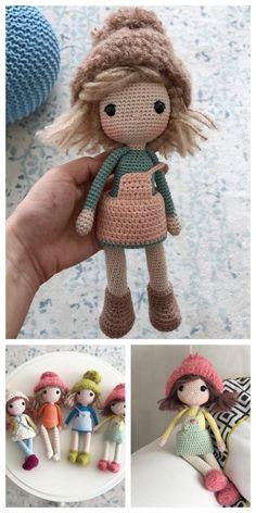 Educational and interesting ideas about amigurumi, crochet tutorials are here. Doll Amigurumi Free Pattern, Crochet Dolls Free Patterns, Crochet Doll Pattern, Amigurumi Doll, Crochet Doll Tutorial, Diy Crochet, Crochet Geek, Crochet Beanie, Ballerina Doll