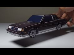 JCARWIL PAPERCRAFT 1987 Oldsmobile Cutlass (Building Paper Model Car) - YouTube