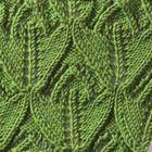 Many different knitting stitches.