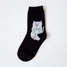 Harajuku New Arrival Casual Cartoon Hip Hop Cat Cotton Men Socks Creative Alien Funny Socks Skateboard Socks For Men 40-43