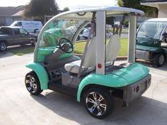 2002 Ford Think Street Legal Golf Cart - Custom 2 Seater - Freshly Done Awesome! Golf Carts For Sale, Custom Golf Carts, Electric Golf Cart, Electric Cars, Ford Think, Street Legal Golf Cart, Beach Cart, Golf Cart Accessories, Golf Score