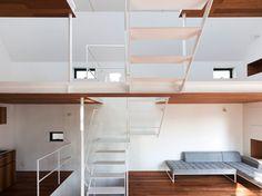 Split level  House in Sakuragawa by Suppose Design Office
