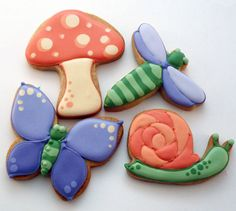 Decorated Cookies  Spring  Dragonfly  Butterfly  by katieduran, $34.00