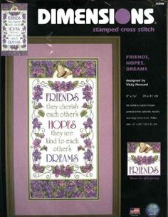 Friends, Hopes, Dreams Dimensions Stamped Cross Stitch Craft Kit
