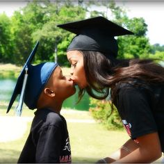 Awww so cute. But I do not plan on being at any of my graduations with my kids being born yet. Maybe Zane's pre-k graduation we will take this picture