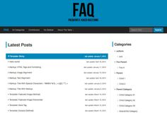 Quickly build a lightweight knowledgebase / frequently asked question site with the FAQ Theme.
