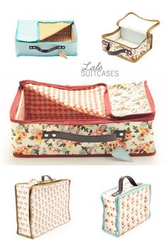 Hmmm...this isn't a DIY but it does inspire me to try my hand at sewing little suitcases