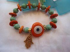 SALE BOHEMIAN AMULET Bracelet Evil Eye  Ethnic bracelet by Nezihe1, $22.00