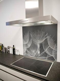 Soft Dandelion heads Printed Glass Splashback from DIYSplashbacks.co.uk