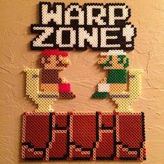 Warp Zone - Mario hama perler beads by universal_pixels