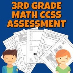 3rd grade math assessment or 4th grade pre-assessment covering 20 math common core state standards. Operations and Algebraic Thinking, Number and Operations - Fractions, Number and Operations in Base Ten, Measurement and Data, Geometry. 20 multiple-choice questions.6 pages2 versions of 1st page (3rd... Math Assessment, 4th Grade Math, Multiple Choice, 5th Grades, Fractions, Elementary Schools, Geometry, Core, Classroom