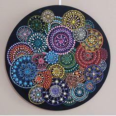 Mandala Art, Mandala Canvas, Mandala Painting, Mandala Pattern, Mosaic Patterns, Mandala Design, Aboriginal Dot Painting, Dot Art Painting, Pebble Painting