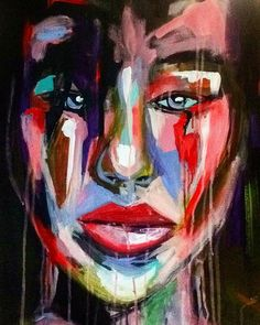 """Angela"" Expressionism painting by @Angela Correa  Acrilic on canvas  #Art #paint #Expressionism #protrait"