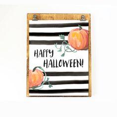 Happy Halloween Printable Wall Art Pumpkin by SweetLittleOnesShop