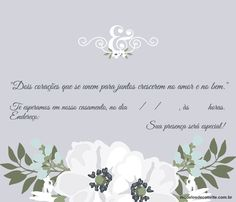 Convites de Casamento para Imprimir – Modelos para Editar continue vendo... Lany, World, Wedding, 36, Pasta, Wedding Lunch, Civil Wedding, Lettering Styles, Photos