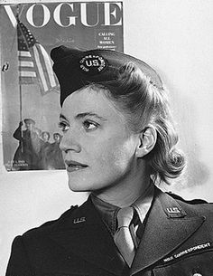 "Women in WWII - Elizabeth ""Lee"" Miller was an acclaimed war correspondent and photographer for Vogue during World War II, covering events such as the London Blitz, the liberation of Paris, and the concentration camps at Buchenwald and Dachau."