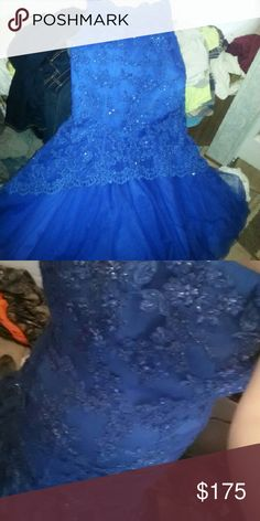 Prom dress/evening gown Strapless royal blue mermaid dress worn once for pictures Dresses Prom