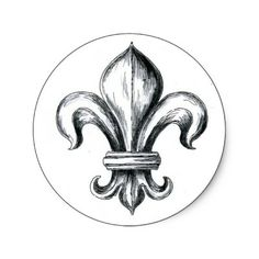 """""""Fleurs-de-lys"""" was a motif that represented French royalty and the lily. I loved learning this because I never knew that's what its meaning was and I see it everywhere! Haut Tattoo, New Tattoos, Tatoos, French Royalty, Louis Xiv, Antique Paint, Objet D'art, Round Stickers, Wood Carving"""