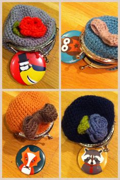 Vintage style crochet coin purse  Pocket Mirror - The Supermums Craft Fair