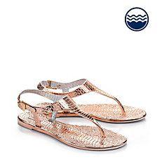 Buffalo Strand Sandale in rosé