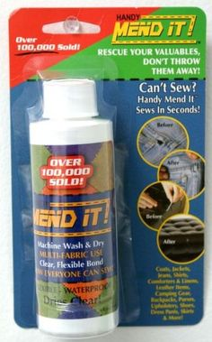 Mend It Clear and Flexible Clothing Glue. Handy « Build Better Bridges