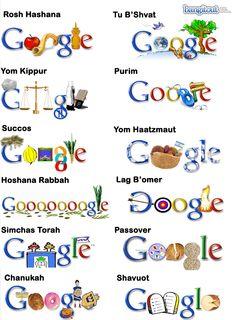 Jewish Holiday themes. #Google #Doodles