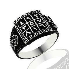 925 STERLING SILVER ISLAMIC TALISMAN RING FOR MEN