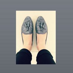 #CreatedByKeeo // Loafer Love - Loving my new 50 shades of grey loafers // Zara// shoe porn