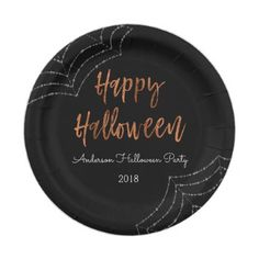 Happy Halloween Party Modern Halloween Plates - home gifts ideas decor special unique custom individual customized individualized