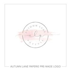 This listing is for a customizable pre-made Rose Watercolor Circular Stamp Initials Logo. Put your company's name on it today!