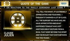 Flyers ceremony dedicated to the city of Boston. Last Game, Just A Game, Philadelphia Flyers, Boston Celtics, Hockey Players, Boston Red Sox, Long Live, Real Women, Athletes