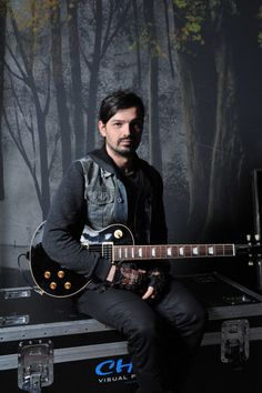 Tomo Milicevic at backstage at the Nottingham Arena Shoot , February 18, 2010