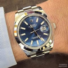 What's On Your Wrist? — The nice blue dial of the Rolex Oyster Perpetual...