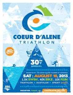 2013 Coeur d'Alene Triathlon Poster designed by Tran Creative.