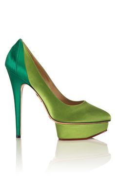 Charlotte Olympia's Cruise 2013 Collection - Green Masako Pump  | More luscious greens here: http://mylusciouslife.com/photo-galleries/a-colourful-life-colours-patterns-and-textiles/